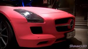 pink mercedes amg mercedes sls amg matte pink in london youtube