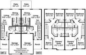 Duplex With Garage Plans Two Story Duplex House Plans Amazing House Plans