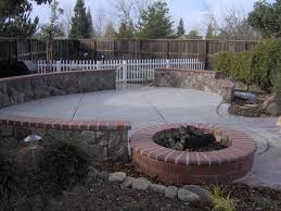 garden appropriate design of fire pit ideas stone symmetrical