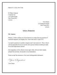 resignation letter sample professional resignation letter sample