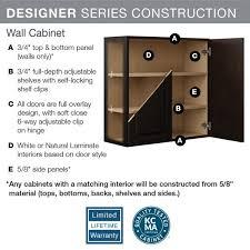 home depot kitchen cabinet glass doors hton bay designer series edgeley assembled 36x30x12 in