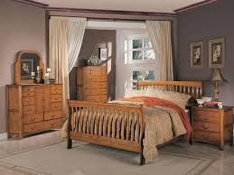 Oak Sleigh Bed Medium Oak Bedroom With Curved Sleigh Bed