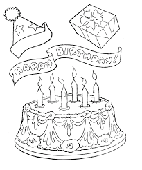 birthday card coloring pages happy birthday card printable