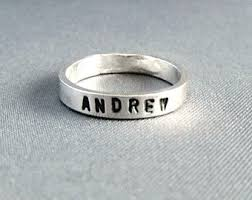 silver name rings silver name ring etsy
