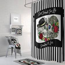 Skull Bathroom Accessories by Custom Personalized Sugar Skull Shower Curtain Day Of The