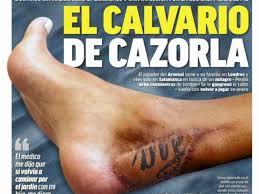 santi cazorla arsenal player u0027s skin graft using a tattoo from his