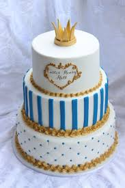prince baby shower cakes extraordinary 3 levels baby shower cake for boy with gold colored