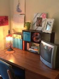 College Desk Organization by Using Shelves As A Small Closet And Tv Stand Is A Great Use Of