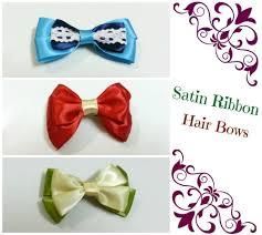 ribbon for hair bows diy hair bows 4 ribbons how to make a ribbon hair bow