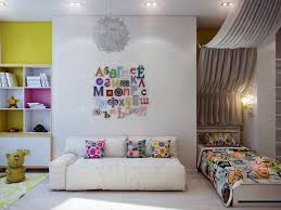 kids room small kids study room design idea with wall lights
