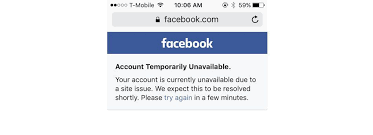 Site Unavailable - happy saturday facebook and instagram are down