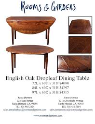 Oak Drop Leaf Dining Table Dining Tables U2014 Rooms U0026 Gardens