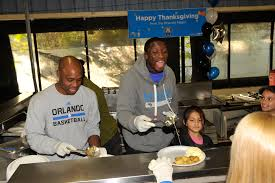 orlando magic celebrates thanksgiving with residents at the