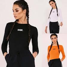 bodysuit jumpsuit longsleeve bodysuit black orange white womens