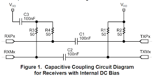 dp83865 ethernet phy capacitive coupling app note or