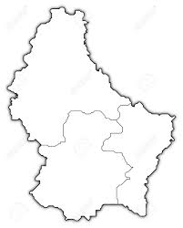 Map Of Luxembourg Political Map Of Luxembourg With The Several Districts Stock