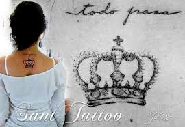 brilliant small crown tattoo design make on women u0027s side back