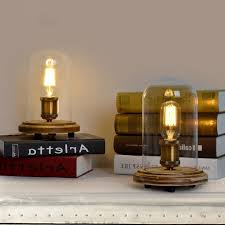 Edison Bulb Floor Lamp Ketty Industrial Style Edison Bulb Glass Cloche Table Lamp Table