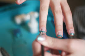 gradient glitter gel nails tutorial the pretty life girls