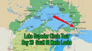 Lake Superior Map Sault Ste Marie Locks Michigan July 23 Lake Superior Circle