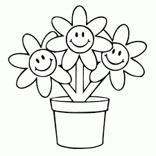 drawings of a flower pot drawing of sketch