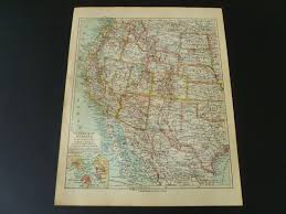 United States Map Poster by Old Map Of The United States 1926 Vintage Poster Western Usa