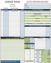 Free Auto Repair Invoice Template Excel Repair Invoice Template Excel Invoice Exle