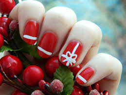 red star christmas nail art design zestymag