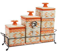 Pink Kitchen Canisters Temp Tations Old World 6 Piece Ceramic Canister Set Page 1 U2014 Qvc Com