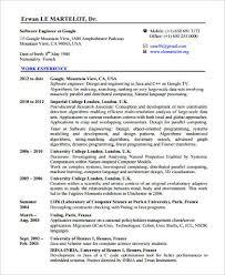 Professional Development Resume Sample Software Developer Resume 9 Examples In Word Pdf