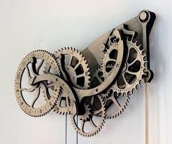 wooden kit mechanical wooden clock kit dudeiwantthat