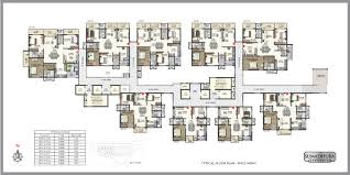 floor plan west wing luxury apartments in gachibowli hyderabad