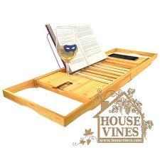 bathtub caddy with book holder luxury bathtub caddy tray with extending sides bamboo wood