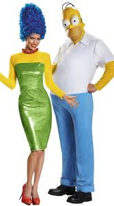 Deluxe Womens Halloween Costumes Simpsons Couples Costume Deluxe Homer Simpson Costume Homer