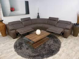 Electric Recliner Sofa by Massiccio Italian Leather Mocha Electric Reclining Corner Sofa