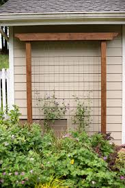 Downspout Trellis Diy Garden Trellis Out Of Pressure Treated Wood And Cattle Fencing