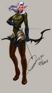 female elf archer by madcoffee on deviantart