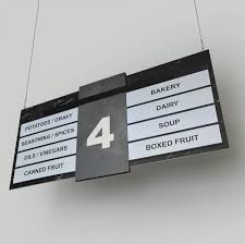 aisle markers retail store aisle signs marble granite sign design