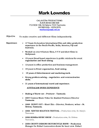 Resume Australia Sample by Download Film Resume Format Haadyaooverbayresort Com