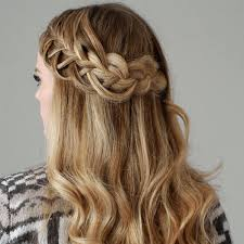 hairstyles for medium length hair with braids our favorite prom hairstyles for medium length hair more com