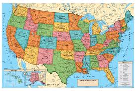 Physical Map Of The United States Usa Political Map Us Political Map America Political Map