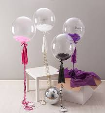 helium filled balloons delivered clear bobo feather inside balloon delivery in bangalore delivery