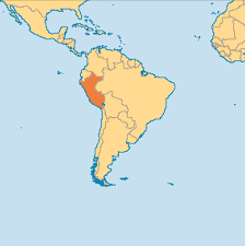 Map Showing Equator Peru Is Located In The South Western Part Of South America