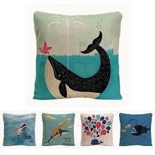coussin décoratif pour canapé arrosage baleine housse de coussin coussin décoratif pour canapé