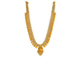 kalyan jewellers traditional necklace of gold