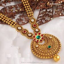 antique gold necklace images Gold antique necklace from josalukkas south india jewels jpg