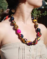 necklace making beaded jewelry images Fabric covered bead necklace diy tutorial spunnys jpg