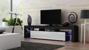 amazon com tv stand milano 200 black body modern led tv cabinet