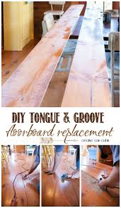 How To Lay Tongue And Groove Laminate Flooring Diy Tounge And Groove Floor Board Replacement Creative Cain Cabin