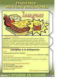 plan de nettoyage et d駸infection cuisine l hygiène en cuisine version 07 12 biotechno pour les profs
